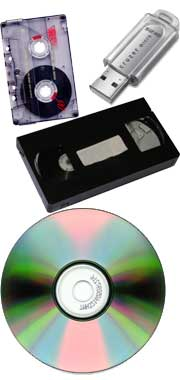 VHS Tape and CD